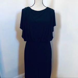 Cut-out Back Black Formal Dress